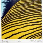 Dune Linocut edition 0f 10
