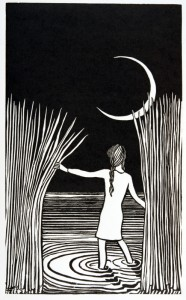 In my dreams Linocut