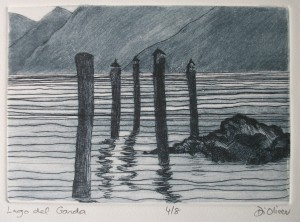 Lago del Garda Drypoint Edition of 5