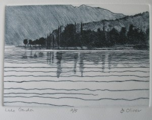 Lake Garda Drypoint Edition of 5
