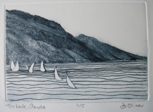 Torbole Garda Drypoint Edition of 5