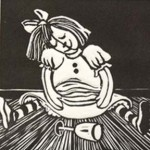 Bad Dolly Linocut Di Oliver