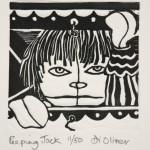 Peeping Jack Linocut Di Oliver