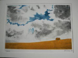 Vienne  Monoprint  55 x 40 cms